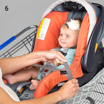 shopping cart hammock with carseat