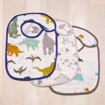 Picture of Cotton Classic Bibs 3Pk Dino Friends