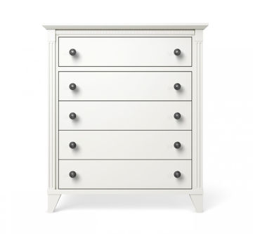 Picture of Edison 5 Drawer Chest White