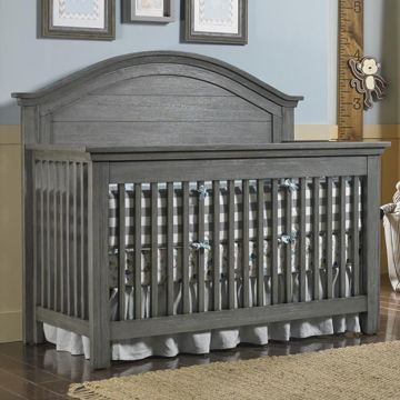 Picture of Panel Convertible Crib - Lucca - Weathered Gray