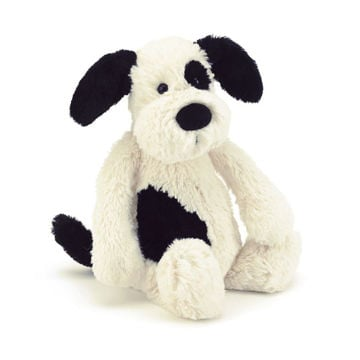 Picture of Bashful Puppy Black & Cream Huge