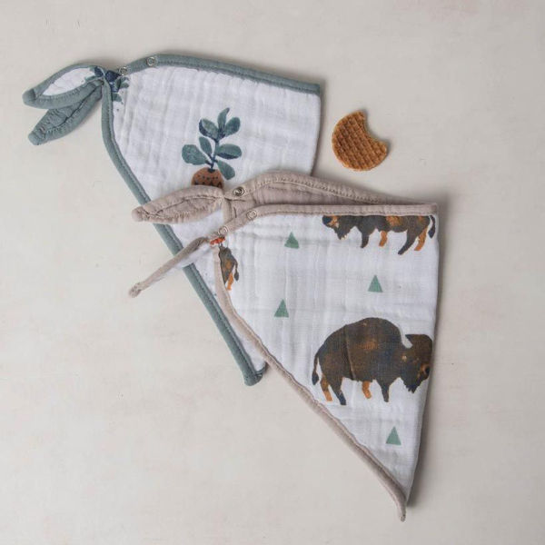 Picture of Cotton Bandana Bibs 2 Pack - Bison