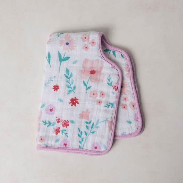 Picture of Cotton Muslin Burp Cloth - Morning Glory by Little Unicorn
