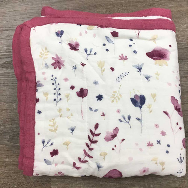 Picture of Deluxe Bamboo Muslin Quilt - Fairy Garden  by Little Unicorn