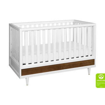 Picture of Eero 4-In-1 Convertible Crib-White/Natural Walnut