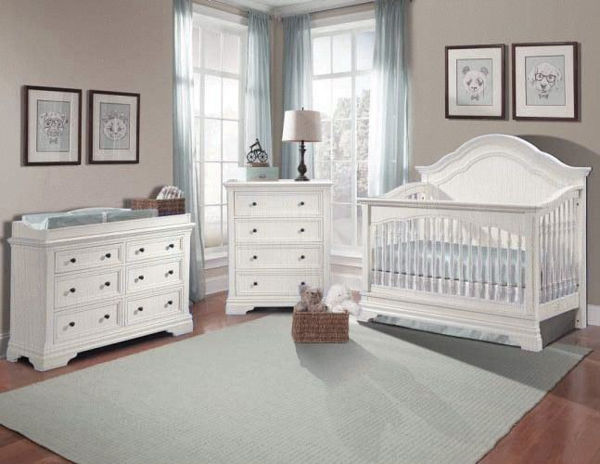 Picture Of Stella Athena 3 Piece Nursery Set Convertible Crib