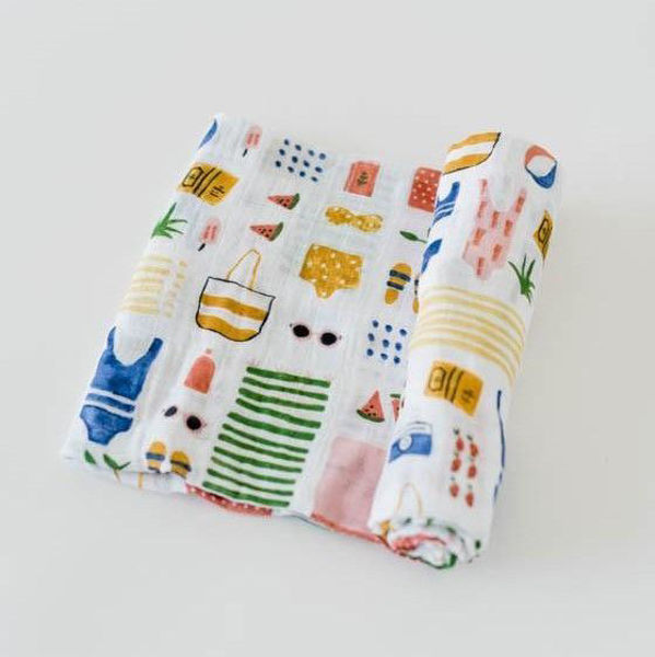Picture of Cotton Muslin Swaddle Single - Beach Bag by Little Unicorn