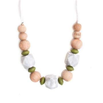 Picture of Teething Necklace - Savannah Olive - 15""