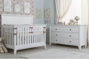 Picture of Edison White Three Piece Nursery Set