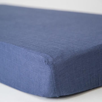 Picture of Cotton Muslin Crib Sheet - Indigo Wash by Little Unicorn