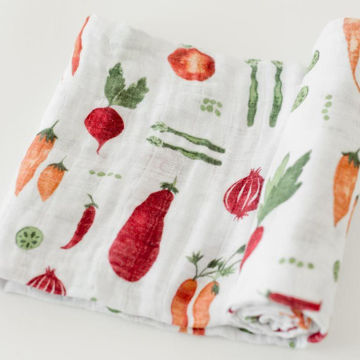 Picture of Cotton Muslin Swaddle Single - Farmer's Market by Little Unicorn