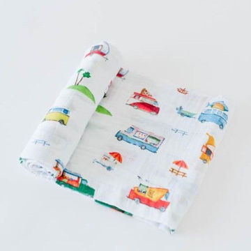 Picture of Cotton Muslin Swaddle Single - Food Truck by Little Unicorn