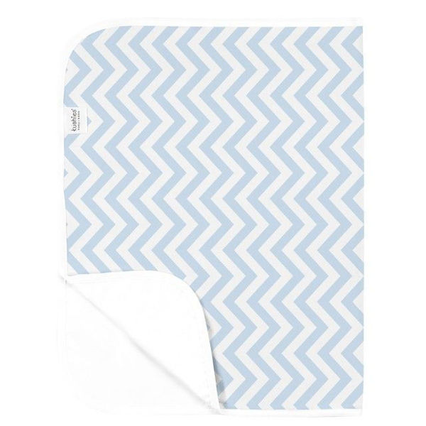 Picture of Deluxe Change Pad Flannel- Chevron Blue