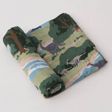 Picture of Cotton Muslin Swaddle Single - Jurassic World by Little Unicorn