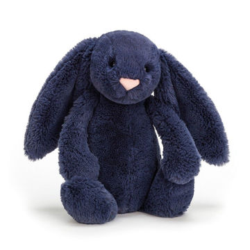 Picture of Bashful Navy Bunny Medium - 12""