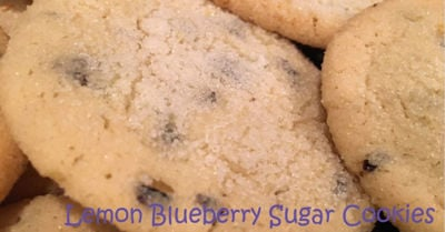 Lemon Blueberry Sugar Cookies