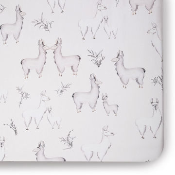 Picture of Llama Jersey Crib Sheet