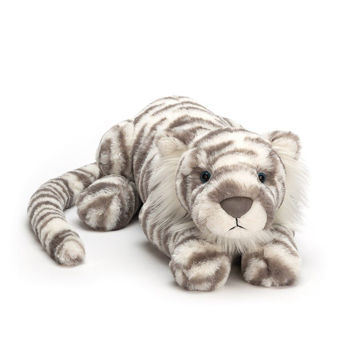 "Picture of Sacha Snow Tiger - Little 11"" - Beautifully Scrumptious by JellyCat"