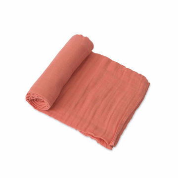 Picture of Cotton Muslin Swaddle Single - Dusty Rose by Little Unicorn