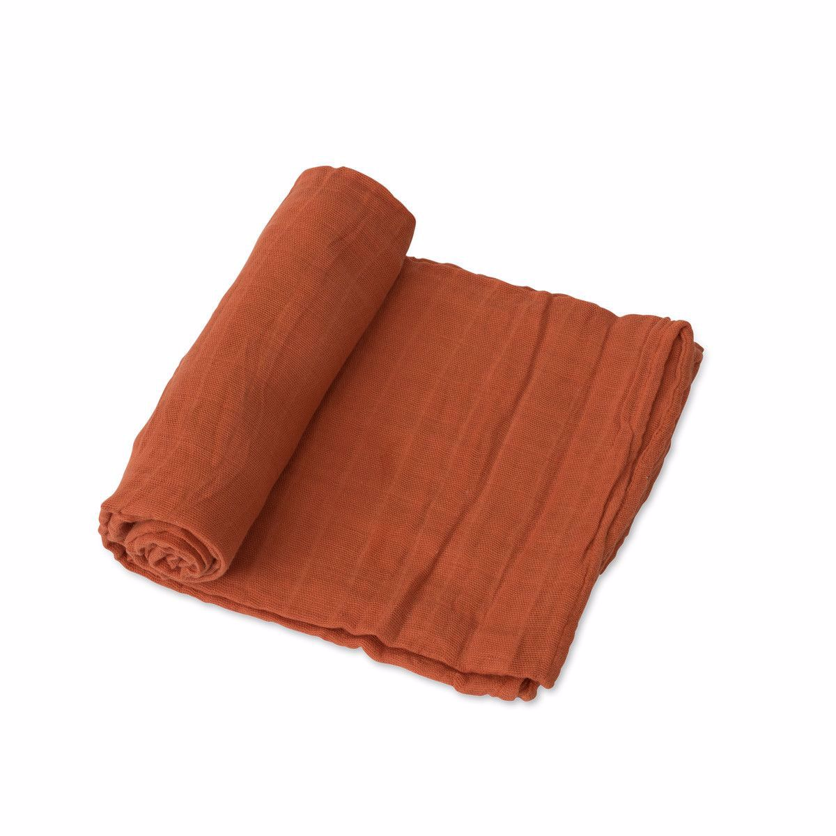 Picture of Cotton Muslin Swaddle Single - Rust by Little Unicorn