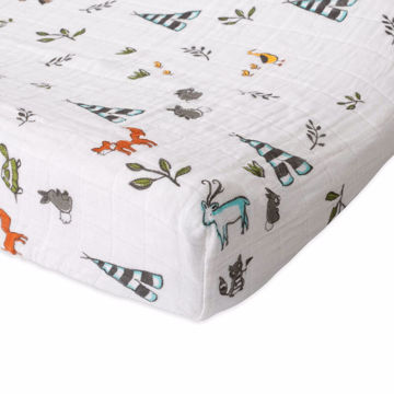 Picture of Cotton Muslin Changing Pad Cover - Forest Friends