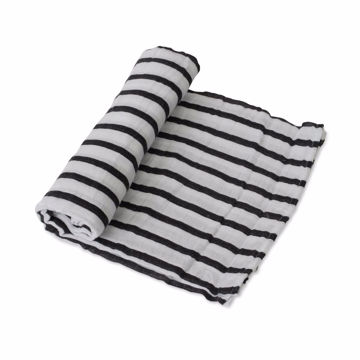 Picture of Cotton Muslin Swaddle Single - Breton Stripes by Little Unicorn