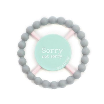 "Picture of Sorry Not Sorry Teether - 4.75"" diameter"