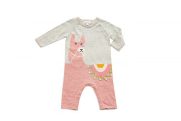 Picture of Alpaca Coverall - Pink (3-6)