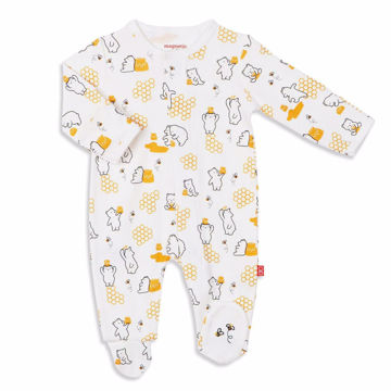 Picture of Honey Bee Mine Organic Cotton Footie - Magnetic