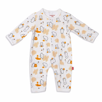 Picture of Honey Bee Mine Organic Cotton Coverall - Magnetic