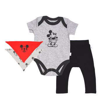 Picture of Finn & Emma Mickey Bodysuit, Pants & Bib Set