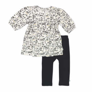 Picture of Finn & Emma Hygge Puff Sleve Dress & Leggings Set