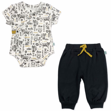 Picture of Finn & Emma Hygge Print Bodysuit + Pant Set