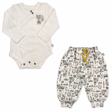 Picture of Finn & Emma Hygge Ivory Bodysuit & Harem Pants Set
