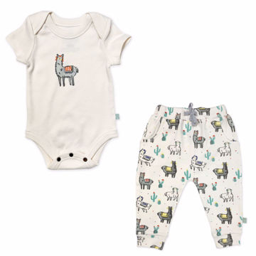 Picture of Finn & Emma Llama Ivory Bodysuit & Pants Set
