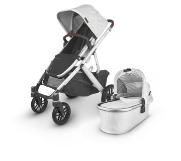 Picture of Uppa Baby VISTA V2 Stroller - BRYCE (white marl/silver/chestnut leather)
