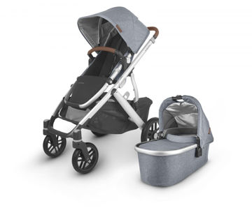 Picture of Uppa Baby VISTA V2 Stroller - GREGORY (blue melange/silver/saddle leather)