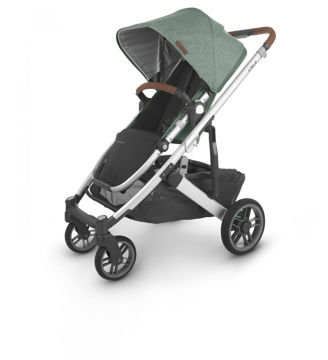 Picture of Uppa Baby CRUZ V2 Stroller - EMMETT (green melange/silver/saddle)