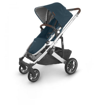 Picture of Uppa Baby CRUZ V2 Stroller - FINN (deep sea/silver/chestnut)
