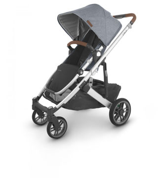 Picture of Uppa Baby CRUZ V2 Stroller - GREGORY (blue melange/silver/saaddle)