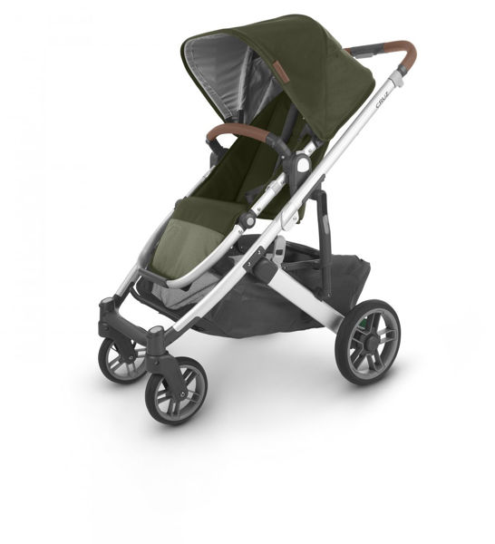 Picture of Uppa Baby CRUZ V2 Stroller - HAZEL (olive/silver/saddle)