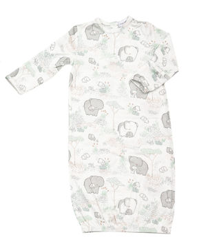 Picture of Angel Dear Gray Elephants Gown - Bamboo (0-3Months)