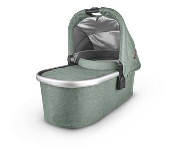 Picture of Uppa Baby Bassinet- EMMETT (green melange/silver/saddle brown leather)