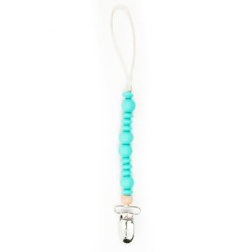 Picture of Turquoise Pacifier Clip