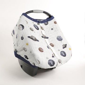 Picture of Cotton Muslin Car Seat Canopy 2 - Planetary by Little Unicorn