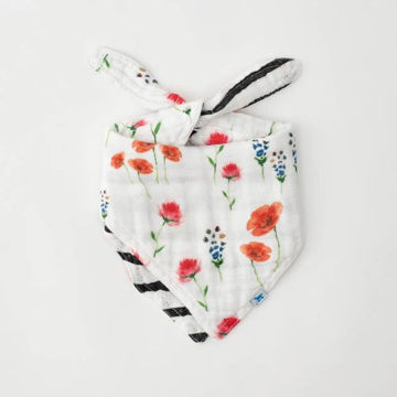 Picture of Cotton Muslin Reversible Bandana Bib - Wild Mums
