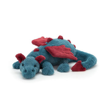 "Picture of Dexter Dragon - Large - 7"" x 22"" - Beautifully Scrumptious by JellyCat"