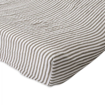 Picture of Cotton Muslin Changing Pad Cover - Grey Stripe