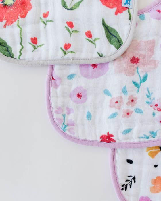 Picture of Cotton Muslin Classic Bib 3 Pack - Floral Medley Set
