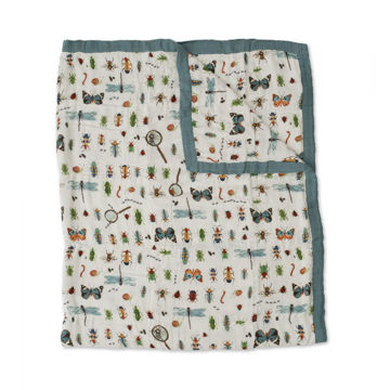 Picture of Deluxe Bamboo Muslin Quilt Big Kid - Bugs  by Little Unicorn